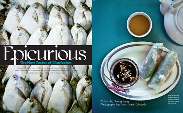 Epicurious, Charleston Mag. 12/08