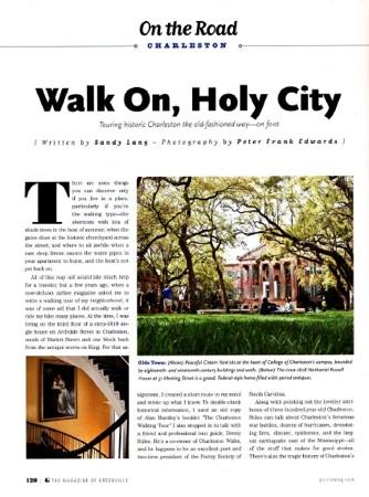 Walking Tour, Charleston, page 1