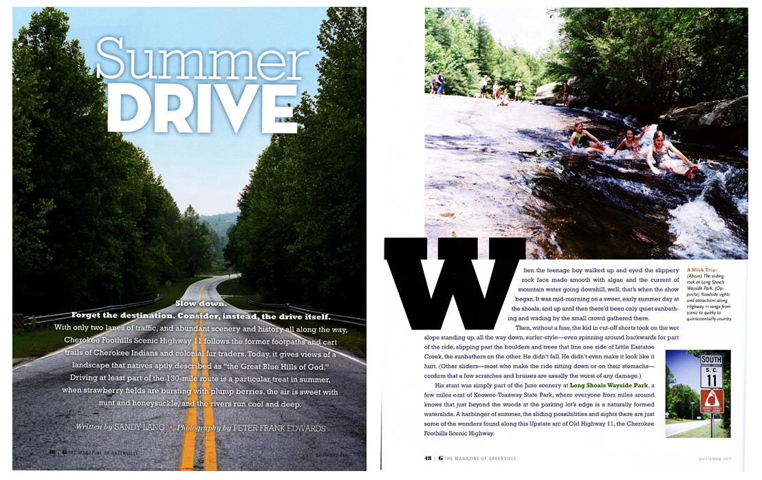 Summer Drive, G Magazine, South Carolina